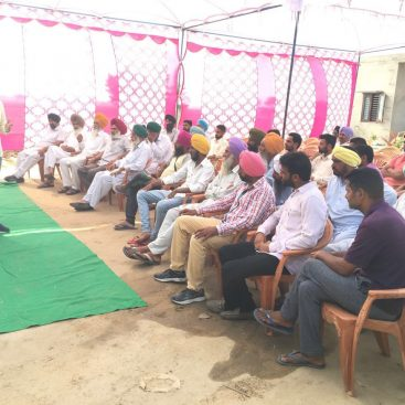 07 06 2016 Farmer Meeting at village Gehal Distt. Barnala, Punjab by our Area Head with team